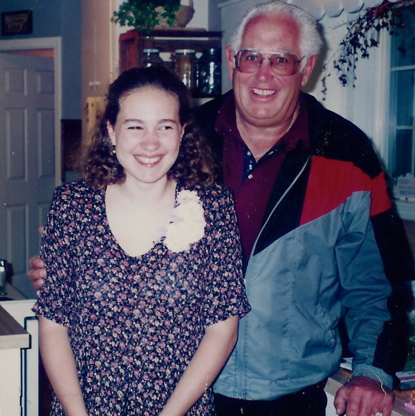 Lindsey and Her Grandpa