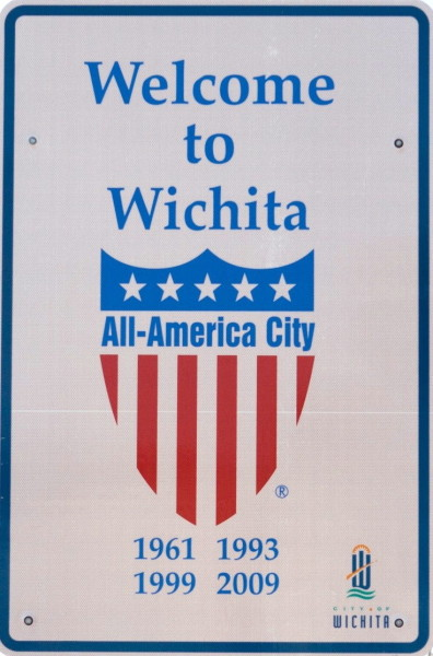 Welcome To Wichita Road Sign